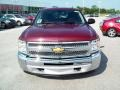 2012 Deep Ruby Metallic Chevrolet Silverado 1500 LT Crew Cab 4x4  photo #14