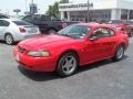 2001 Performance Red Ford Mustang V6 Coupe  photo #7