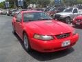 2001 Performance Red Ford Mustang V6 Coupe  photo #9