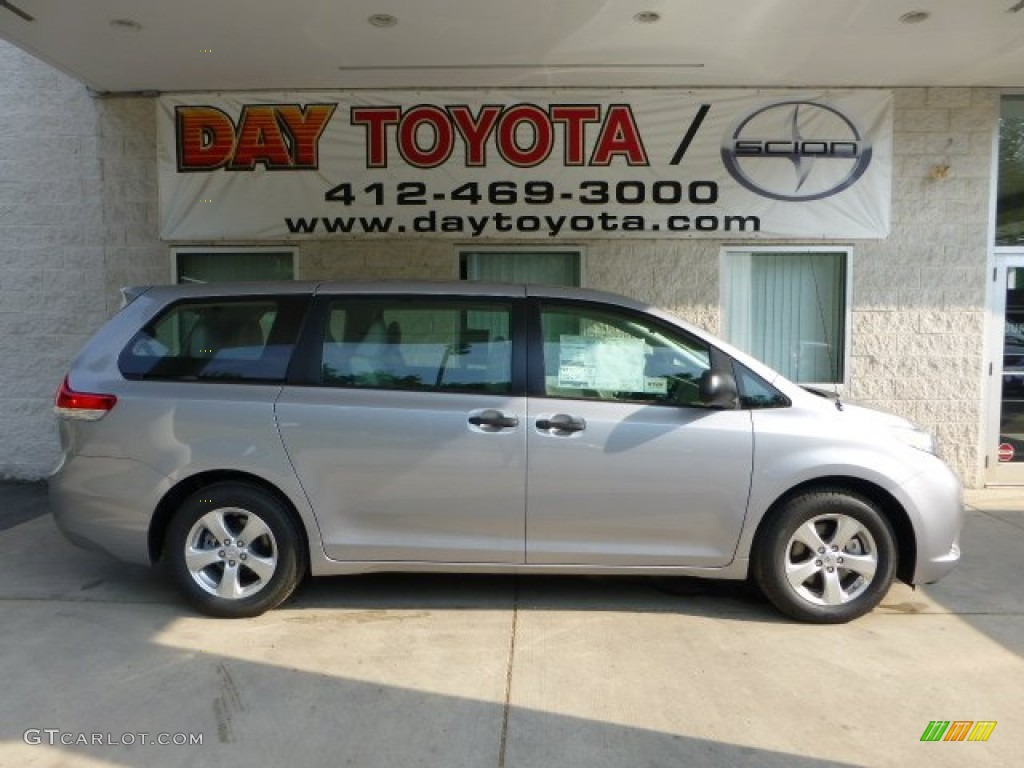 2012 Sienna V6 - Silver Sky Metallic / Light Gray photo #1