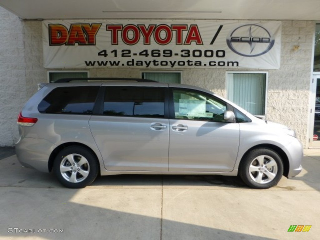 2012 Sienna LE - Silver Sky Metallic / Light Gray photo #1