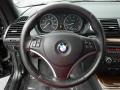2008 BMW 1 Series Coral Red Interior Steering Wheel Photo