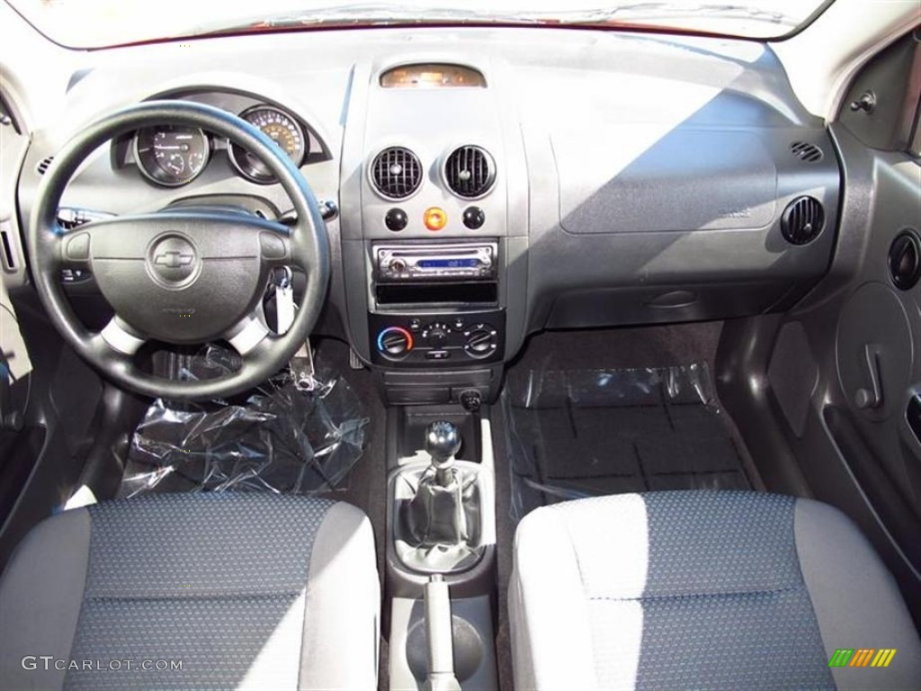2006 Chevrolet Aveo LS Hatchback Charcoal Dashboard Photo ...