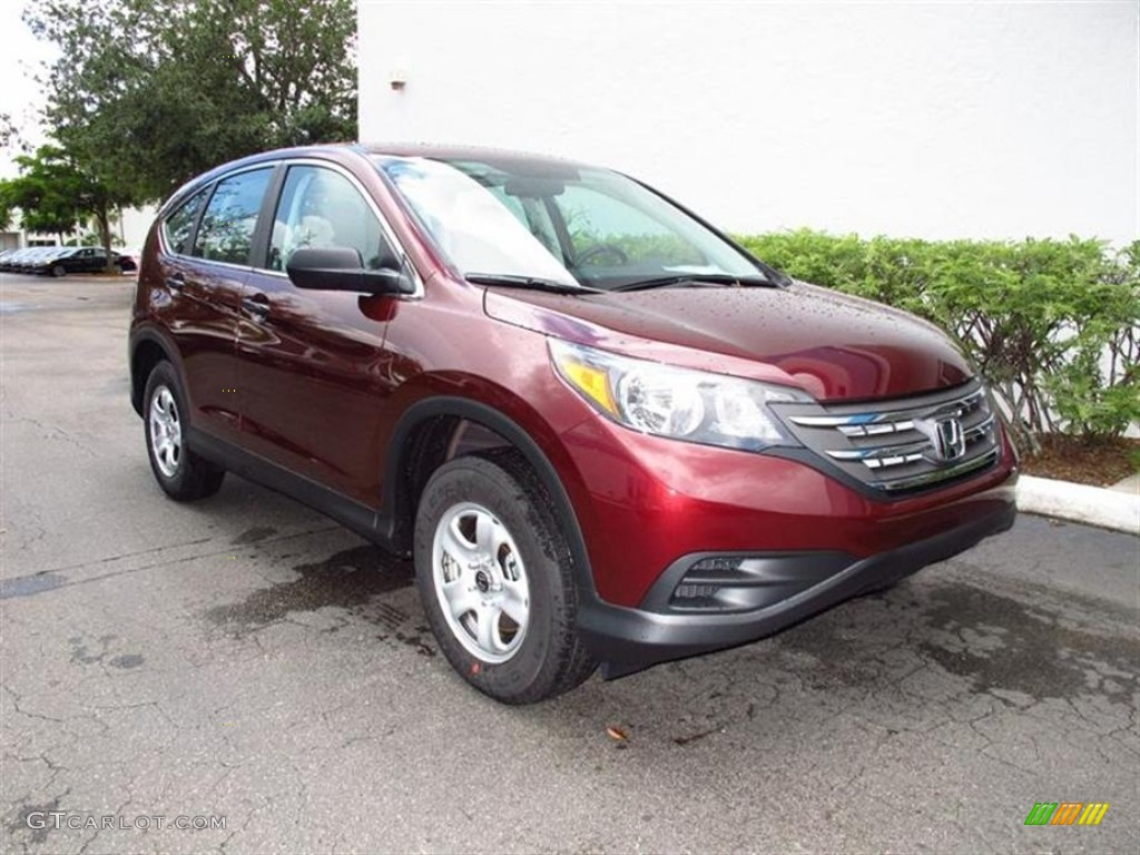 2012 CR-V LX - Basque Red Pearl II / Gray photo #1