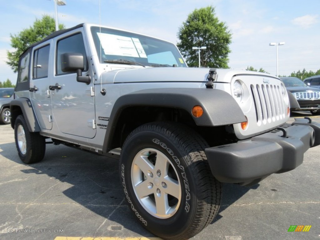 Bright Silver Metallic 2012 Jeep Wrangler Unlimited Sport S 4x4 Exterior Photo 68160844