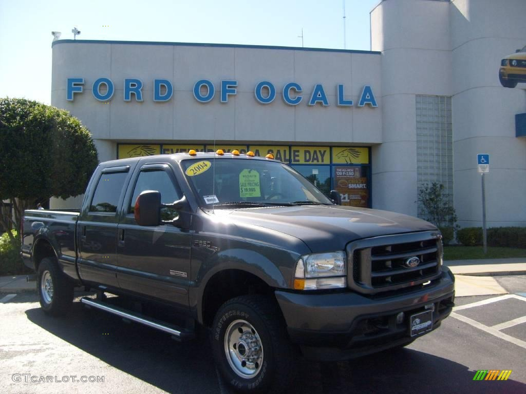 2004 F250 Super Duty XLT Crew Cab 4x4 - Dark Shadow Grey Metallic / Medium Flint photo #1
