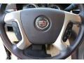 2009 Cadillac Escalade Cocoa/Very Light Linen Interior Steering Wheel Photo