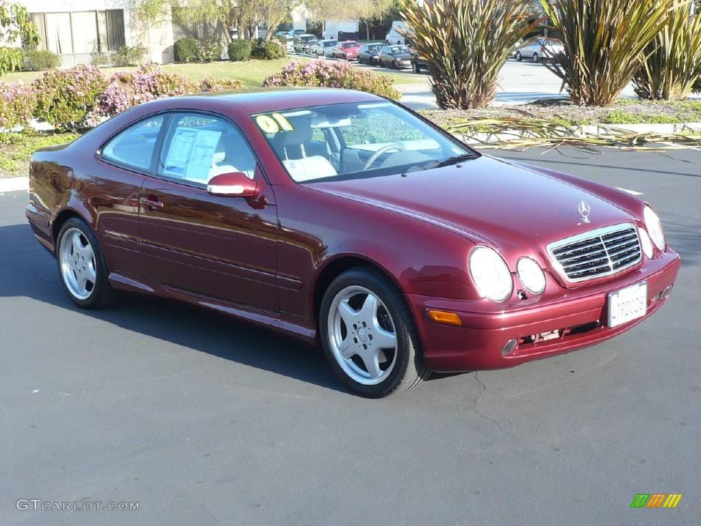 2001 bordeaux red metallic mercedes benz clk 430 coupe for Clk 430 mercedes benz