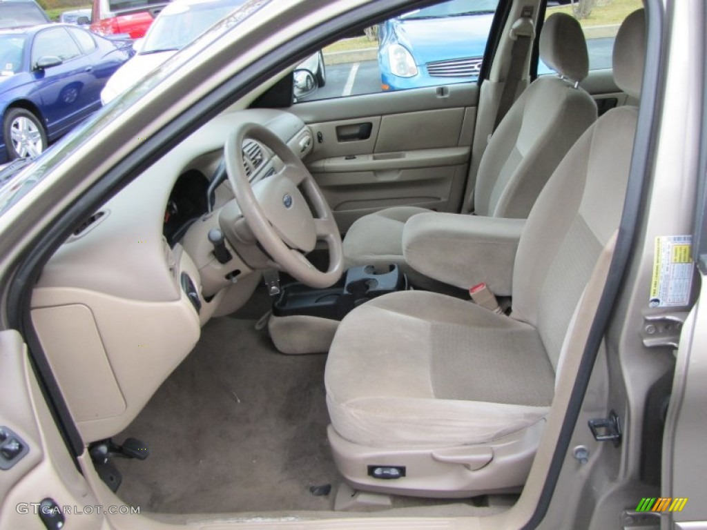 Medium dark pebble beige interior 2006 ford taurus se photo 68207757