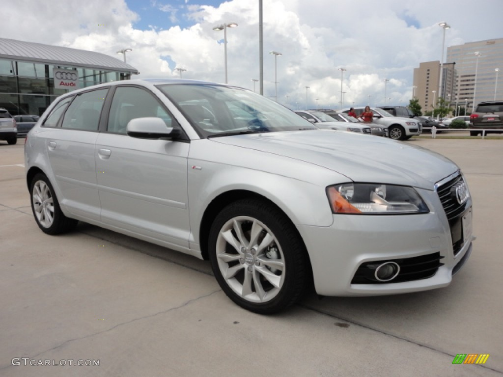 ice silver metallic 2013 audi a3 2 0 tdi exterior photo. Black Bedroom Furniture Sets. Home Design Ideas