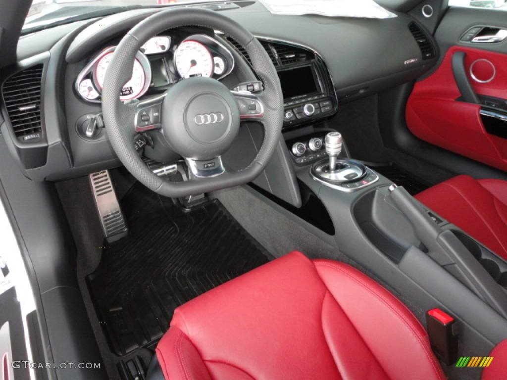 red interior 2012 audi r8 spyder 5 2 fsi quattro photo. Black Bedroom Furniture Sets. Home Design Ideas