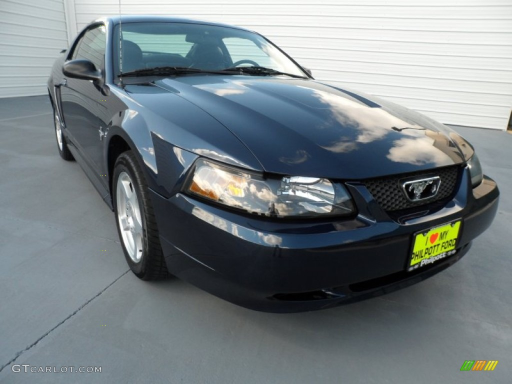 2003 Mustang V6 Coupe - True Blue Metallic / Dark Charcoal photo #1