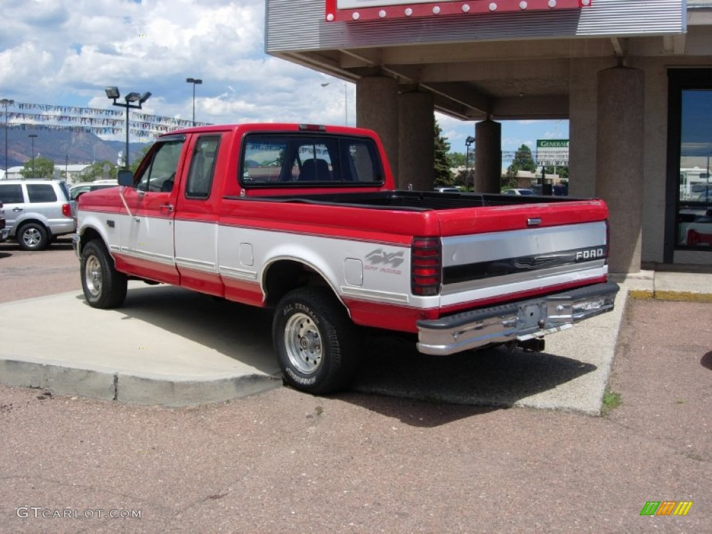 vermillion red 1995 ford f150 xlt extended cab 4x4 exterior photo 68221963. Black Bedroom Furniture Sets. Home Design Ideas