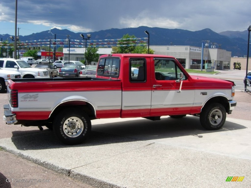 vermillion red 1995 ford f150 xlt extended cab 4x4 exterior photo 68221969. Black Bedroom Furniture Sets. Home Design Ideas