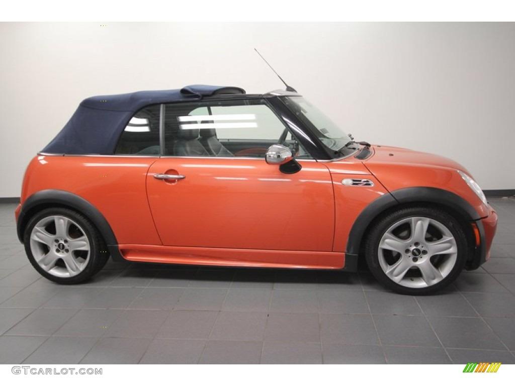 hot orange metallic 2005 mini cooper s convertible exterior photo 68225479. Black Bedroom Furniture Sets. Home Design Ideas