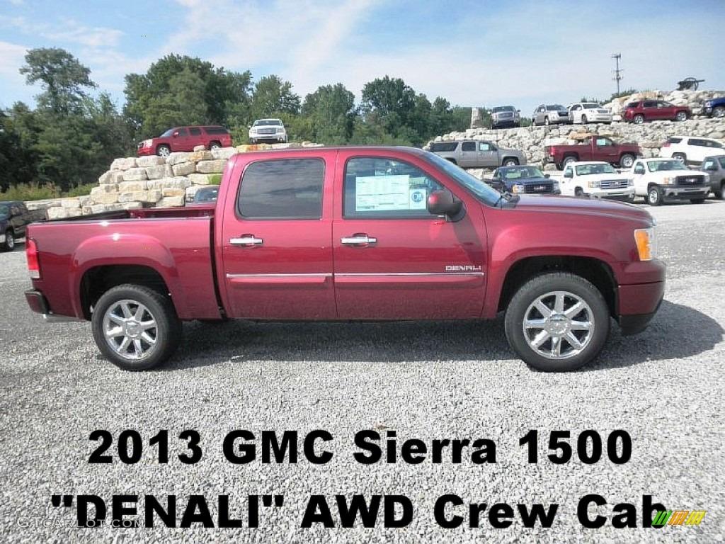 2013 sonoma red metallic gmc sierra 1500 denali crew cab awd 68223872 car. Black Bedroom Furniture Sets. Home Design Ideas