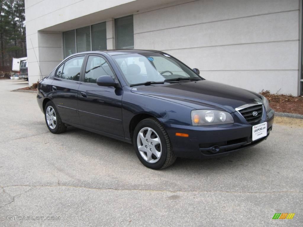 2004 moonlit blue hyundai elantra gls sedan 6797266. Black Bedroom Furniture Sets. Home Design Ideas