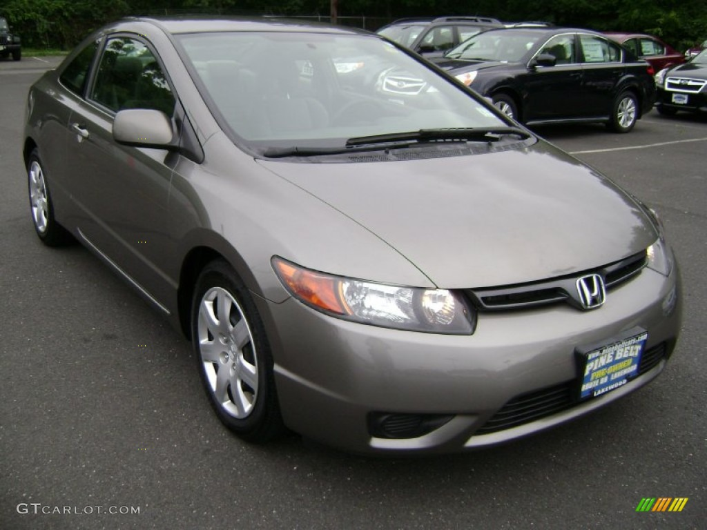 2008 Borrego Beige Metallic Honda Civic LX Coupe #68223136 ...
