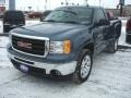 Stealth Gray Metallic - Sierra 1500 SLE Regular Cab 4x4 Photo No. 4