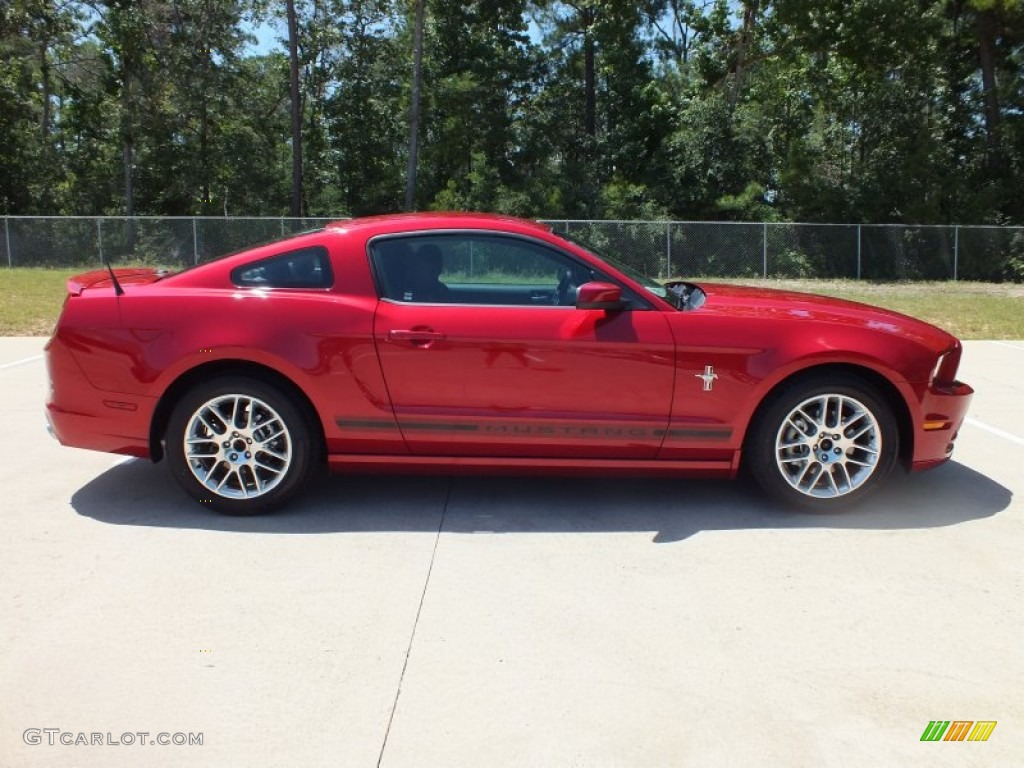 2013 ford mustang v6 premium coupe red candy metallic color. Black Bedroom Furniture Sets. Home Design Ideas