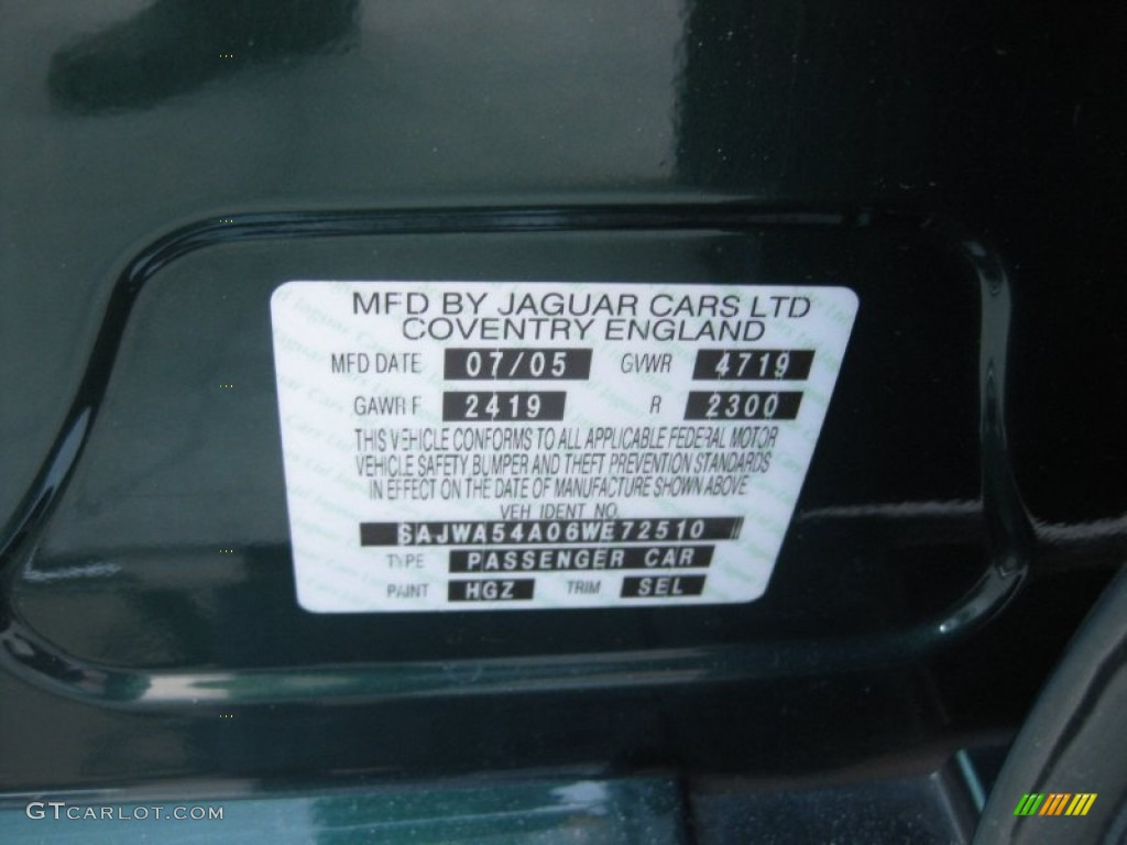 Jaguar X Type Paint Code Location