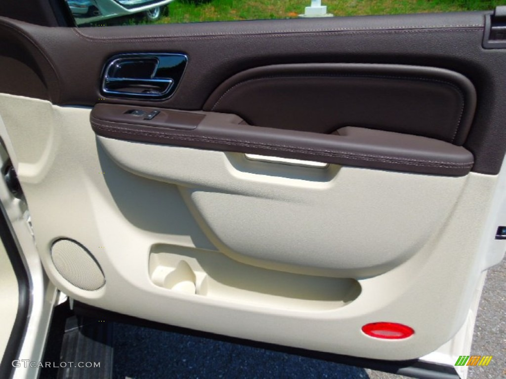 2013 Cadillac Escalade Esv Platinum Awd Cocoa Light Linen Door Panel Photo 68292380