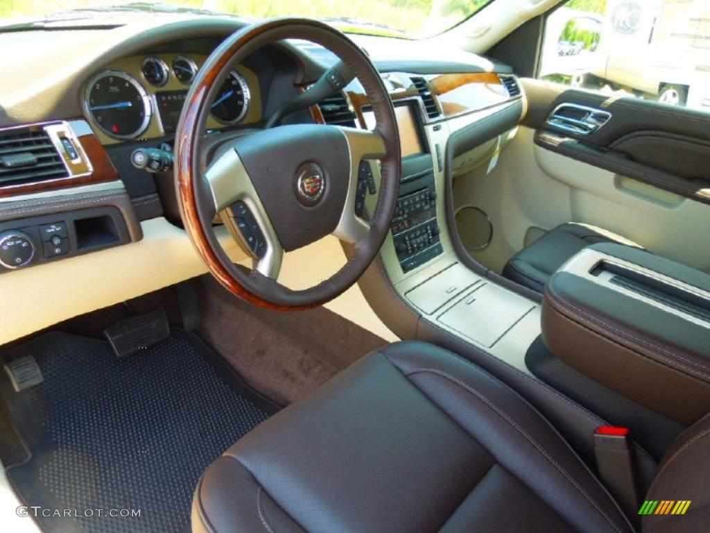 Cocoa/Light Linen Interior 2013 Cadillac Escalade ESV ...