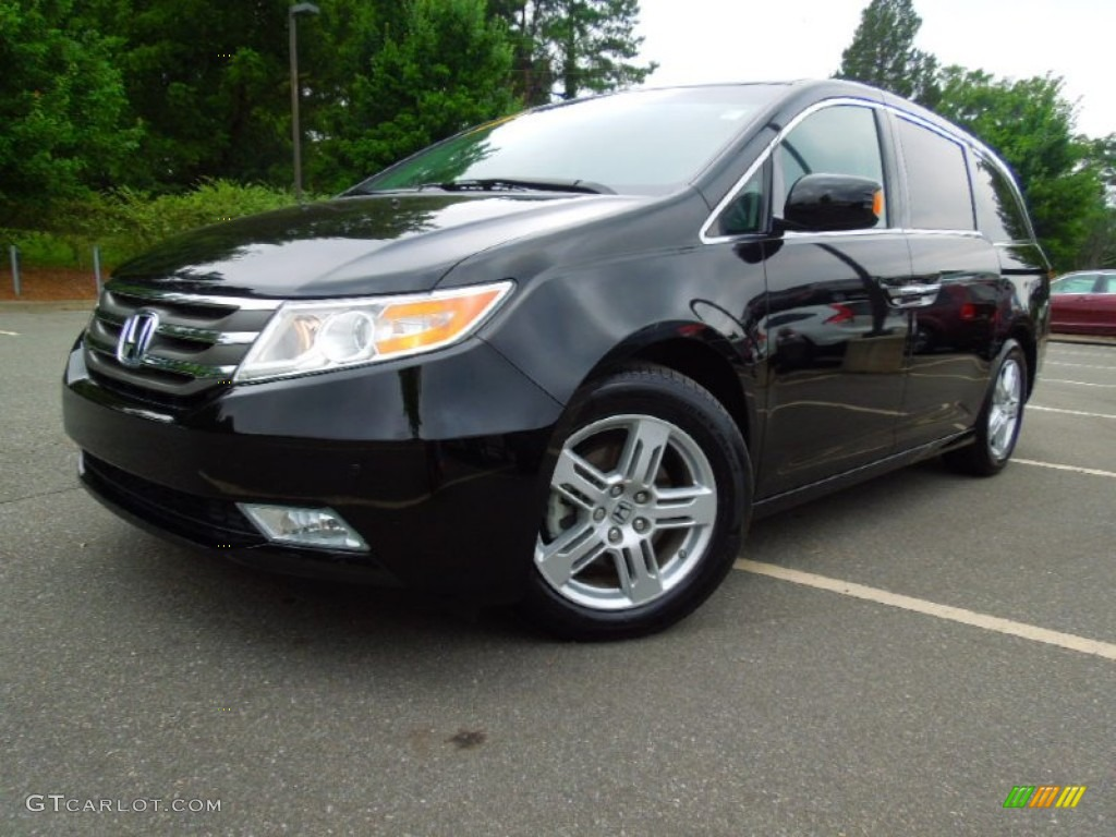 2011 Crystal Black Pearl Honda Odyssey Touring Elite 68283270 Gtcarlot Com Car Color Galleries