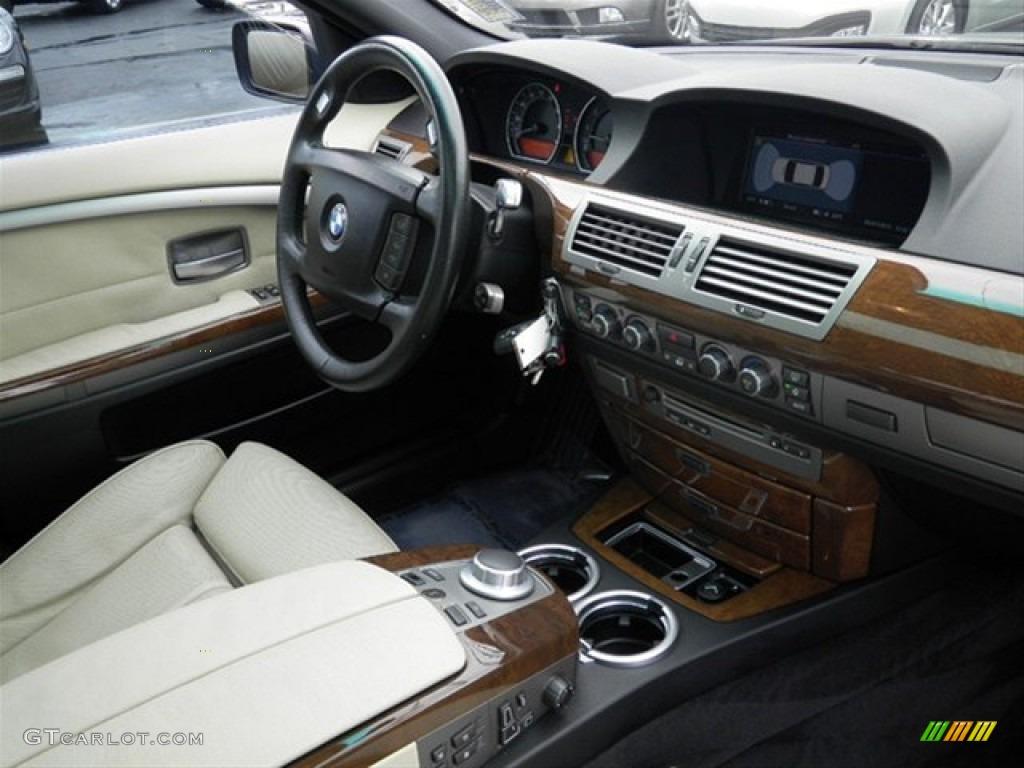 2006 BMW 7 Series 750Li Sedan Black Cream Beige Dashboard Photo 68323226