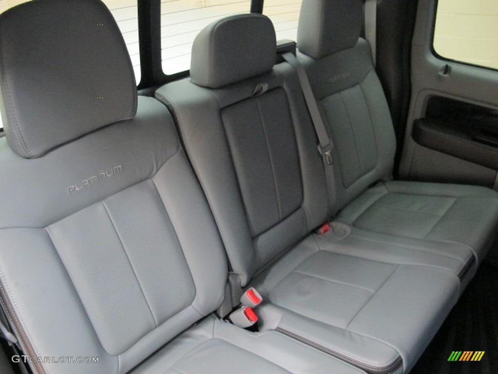platinum steel grayblack leather interior  ford  platinum supercrew  photo