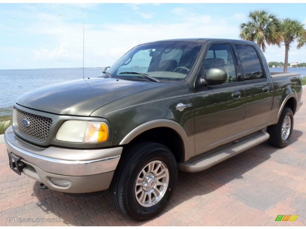 2002 estate green metallic ford f150 king ranch supercrew 4x4 68361710 car. Black Bedroom Furniture Sets. Home Design Ideas