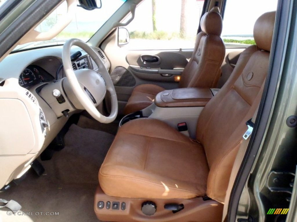 Castano brown leather interior 2002 ford f150 king ranch supercrew 4x4 photo 68364316