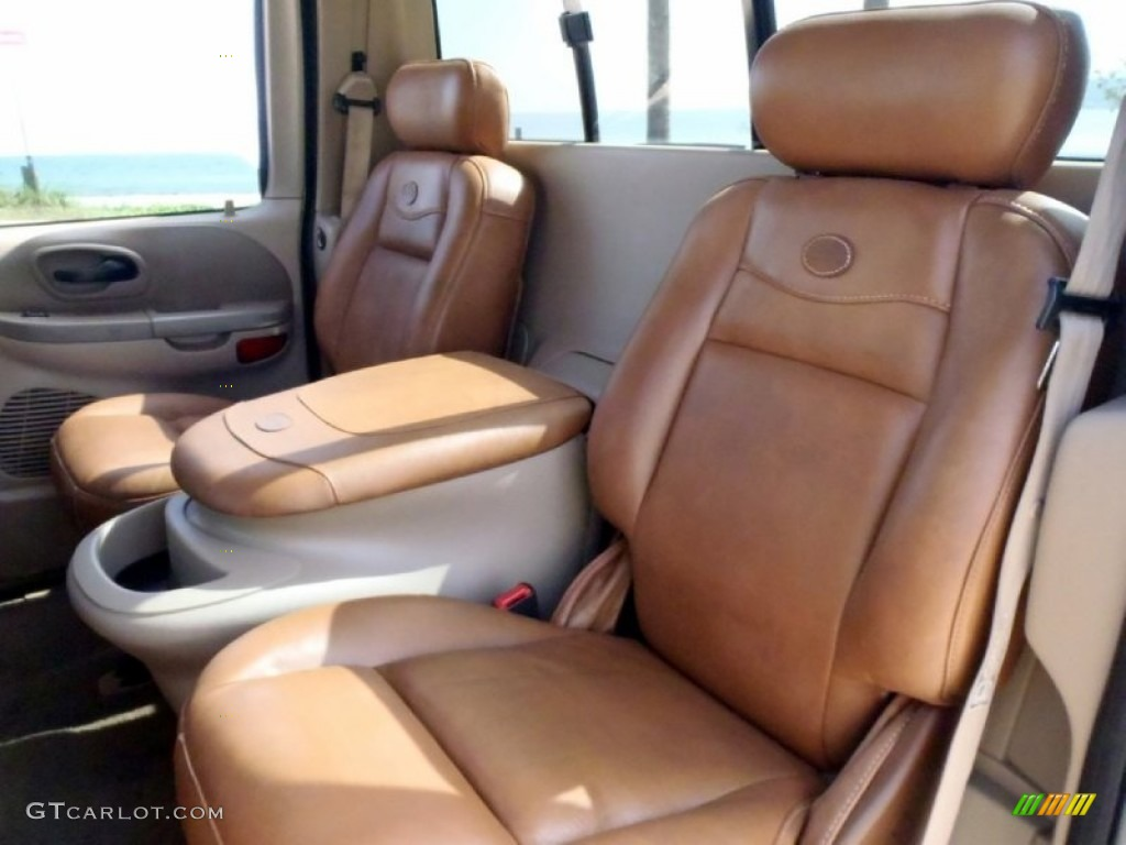 Castano Brown Leather Interior 2002 Ford F150 King Ranch SuperCrew 4x4 ...