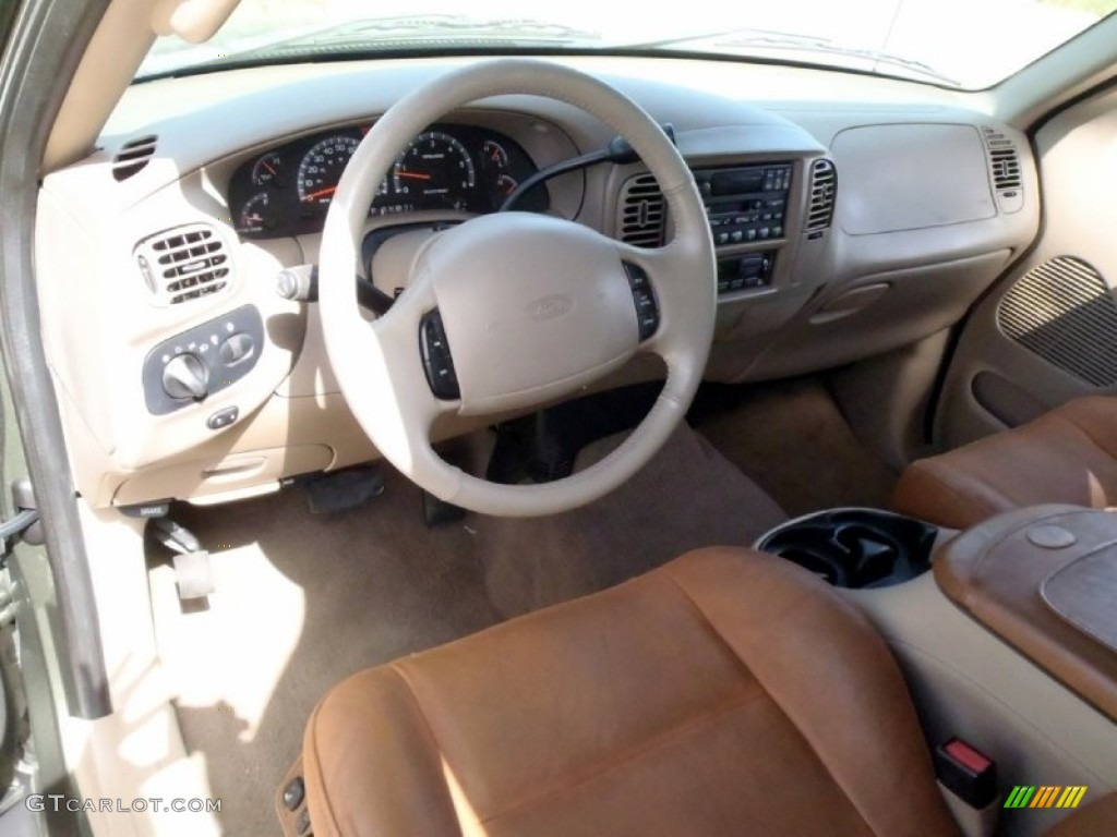 King Ranch Ford >> Castano Brown Leather Interior 2002 Ford F150 King Ranch ...