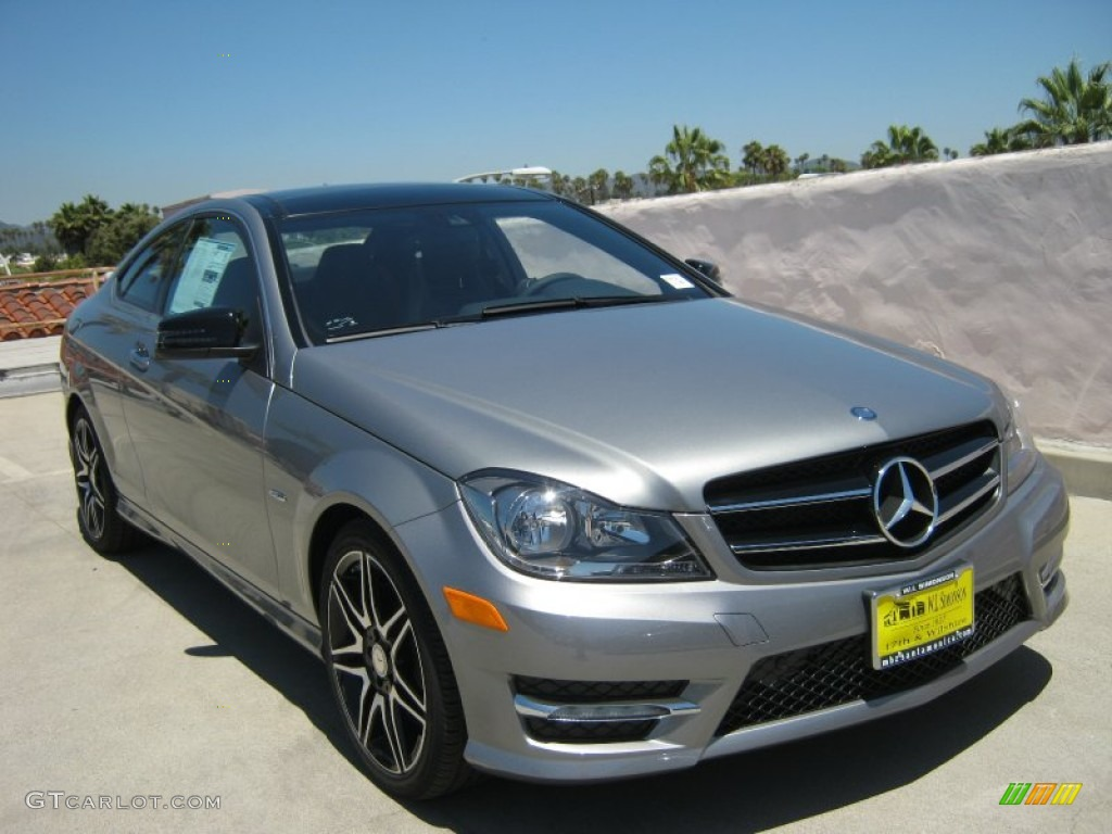 2013 palladium silver metallic mercedes benz c 250 coupe for Mercedes benz silver