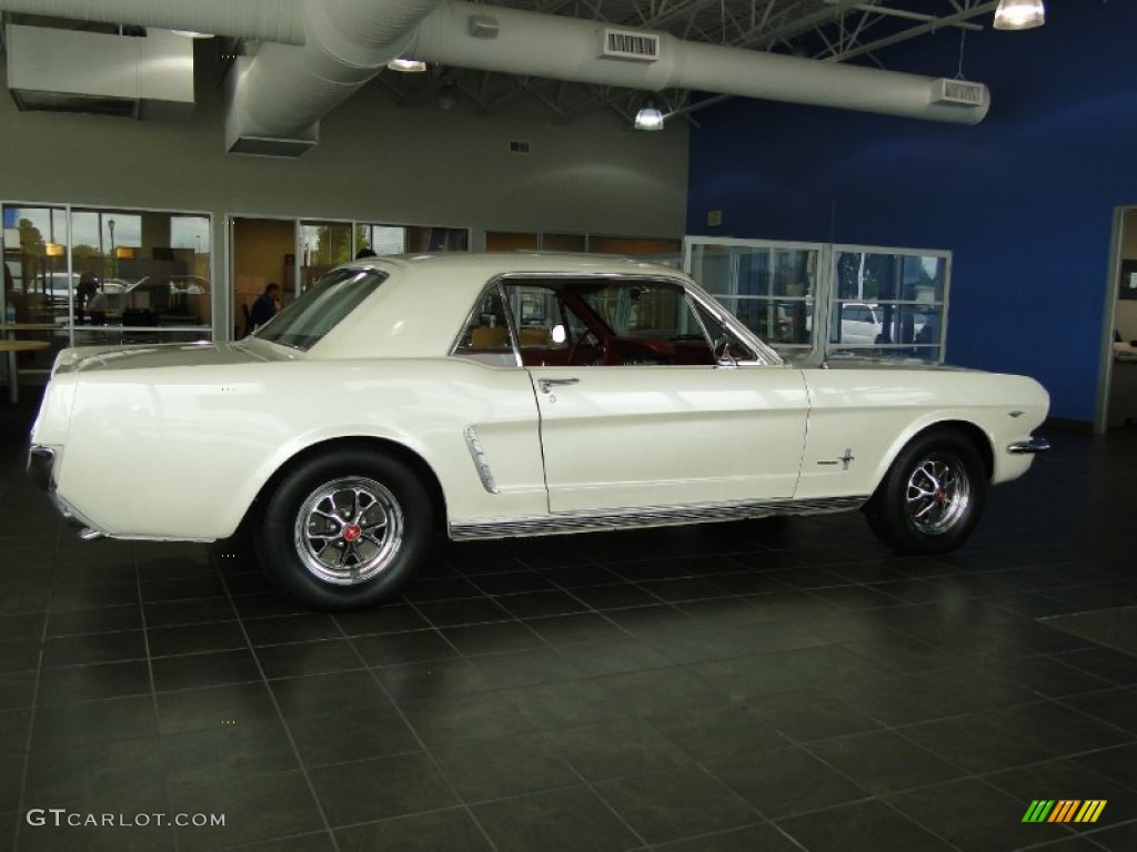 1965 Wimbledon White Ford Mustang Coupe 68361727 Photo 3 1964 Paint Colors Red
