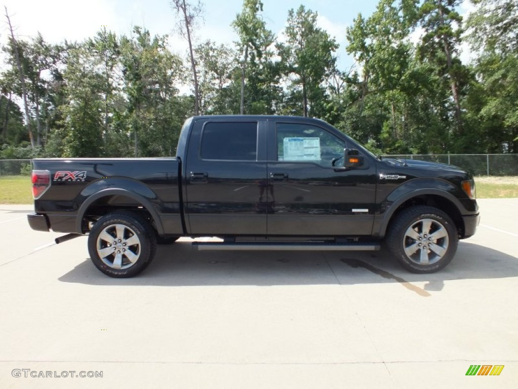 Tuxedo black metallic 2012 ford f150 fx4 supercrew 4x4 exterior photo 68370714