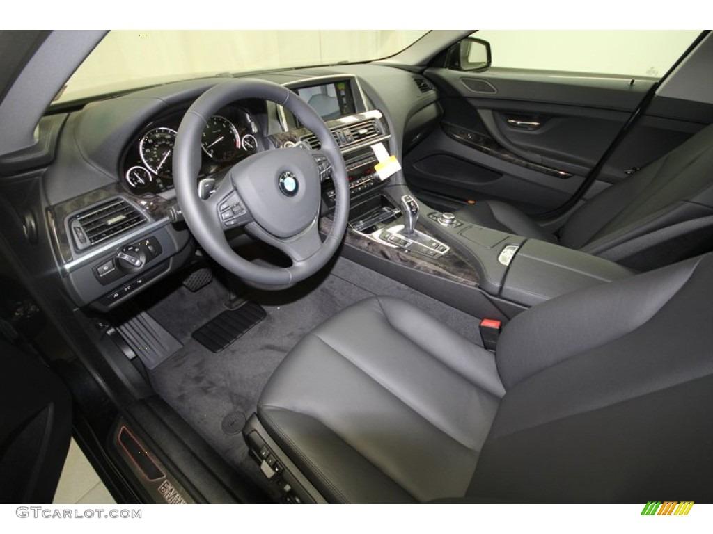 Black Interior 2013 Bmw 6 Series 640i Gran Coupe Photo 68375160