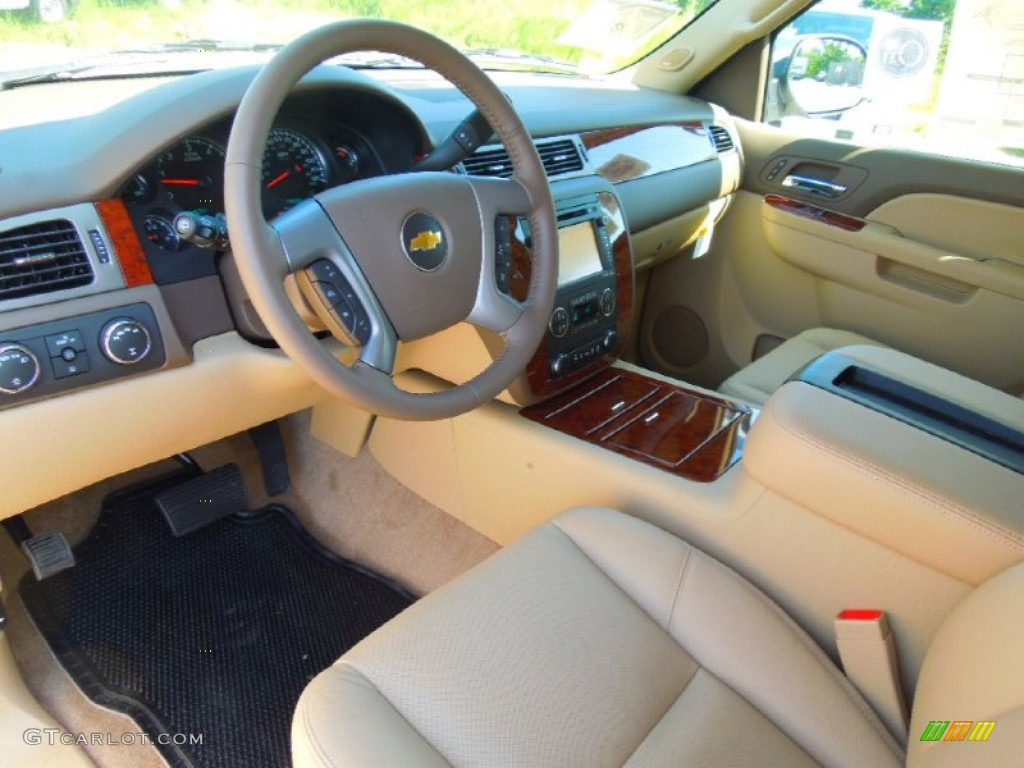 Light Cashmere Dark Cashmere Interior 2013 Chevrolet Tahoe