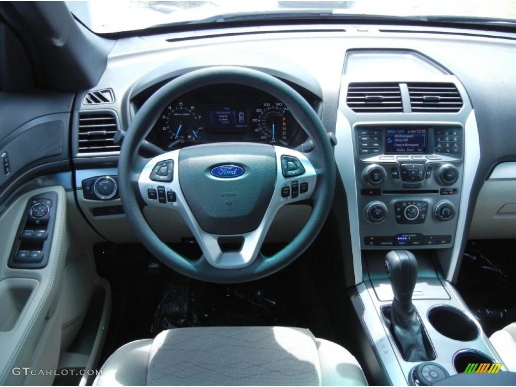 2013 Ford Explorer 4WD Medium Light Stone Dashboard Photo #68411207