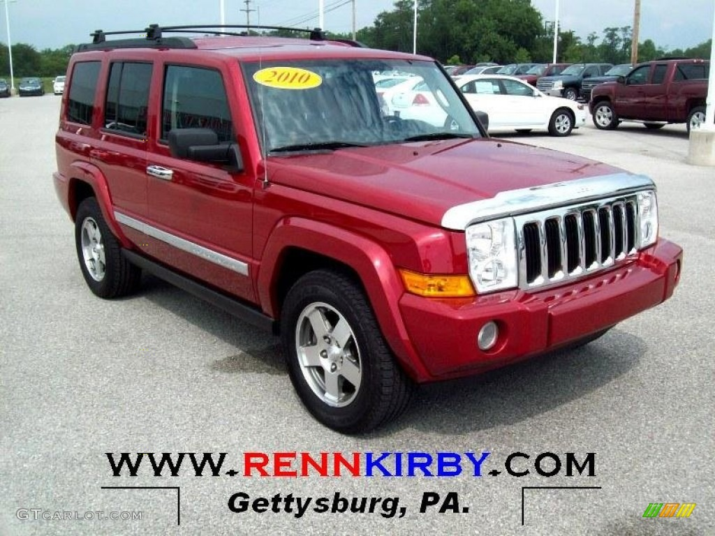 2010 Inferno Red Crystal Pearl Jeep Commander Sport 4x4 68406701 Gtcarlot Com Car Color Galleries