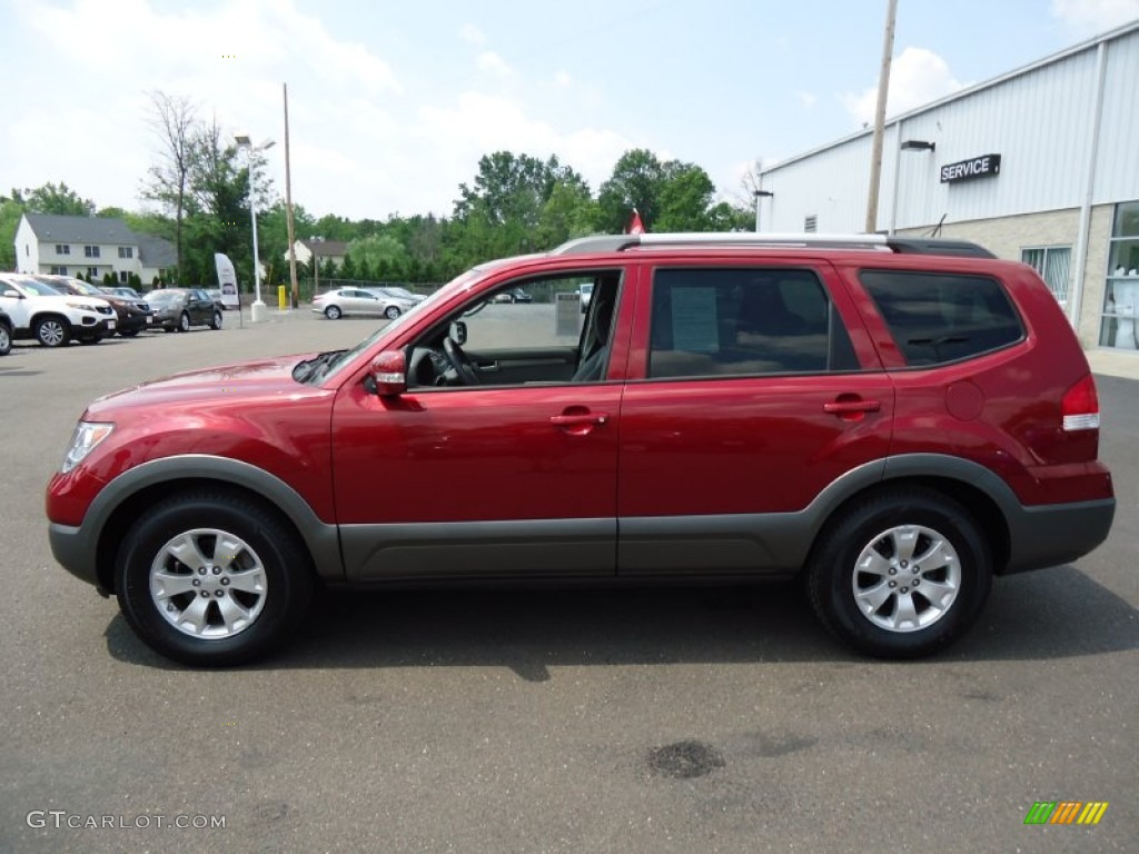 spicy red 2009 kia borrego lx v6 4x4 exterior photo. Black Bedroom Furniture Sets. Home Design Ideas