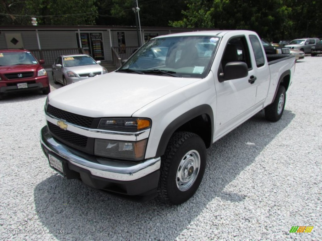 summit white 2007 chevrolet colorado ls extended cab 4x4. Black Bedroom Furniture Sets. Home Design Ideas