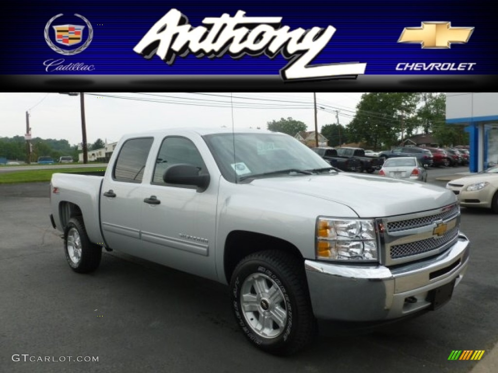 2012 Silverado 1500 LT Crew Cab 4x4 - Silver Ice Metallic / Ebony photo #1
