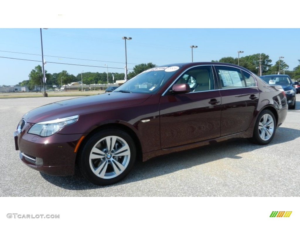 barbera red metallic 2009 bmw 5 series 528i sedan exterior. Black Bedroom Furniture Sets. Home Design Ideas
