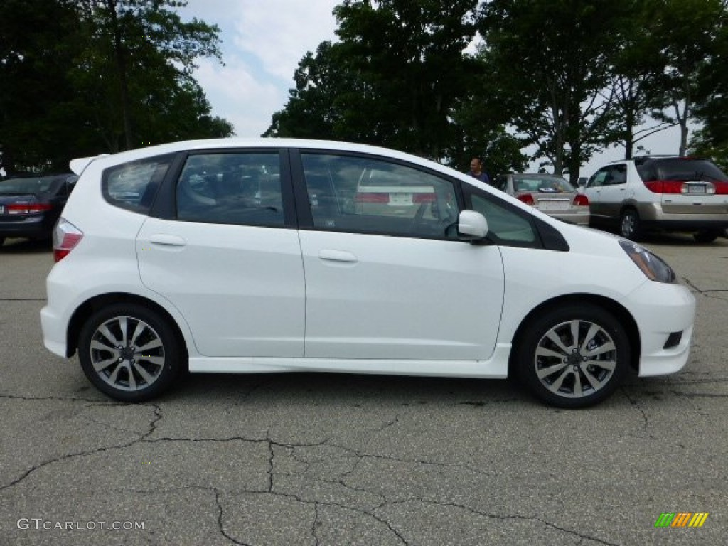 taffeta white 2012 honda fit sport exterior photo