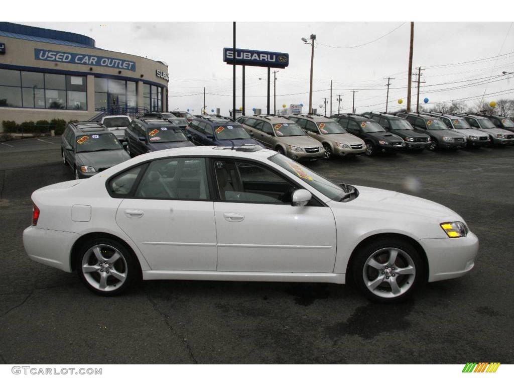 2005 satin white pearl subaru legacy 2 5 gt limited sedan. Black Bedroom Furniture Sets. Home Design Ideas
