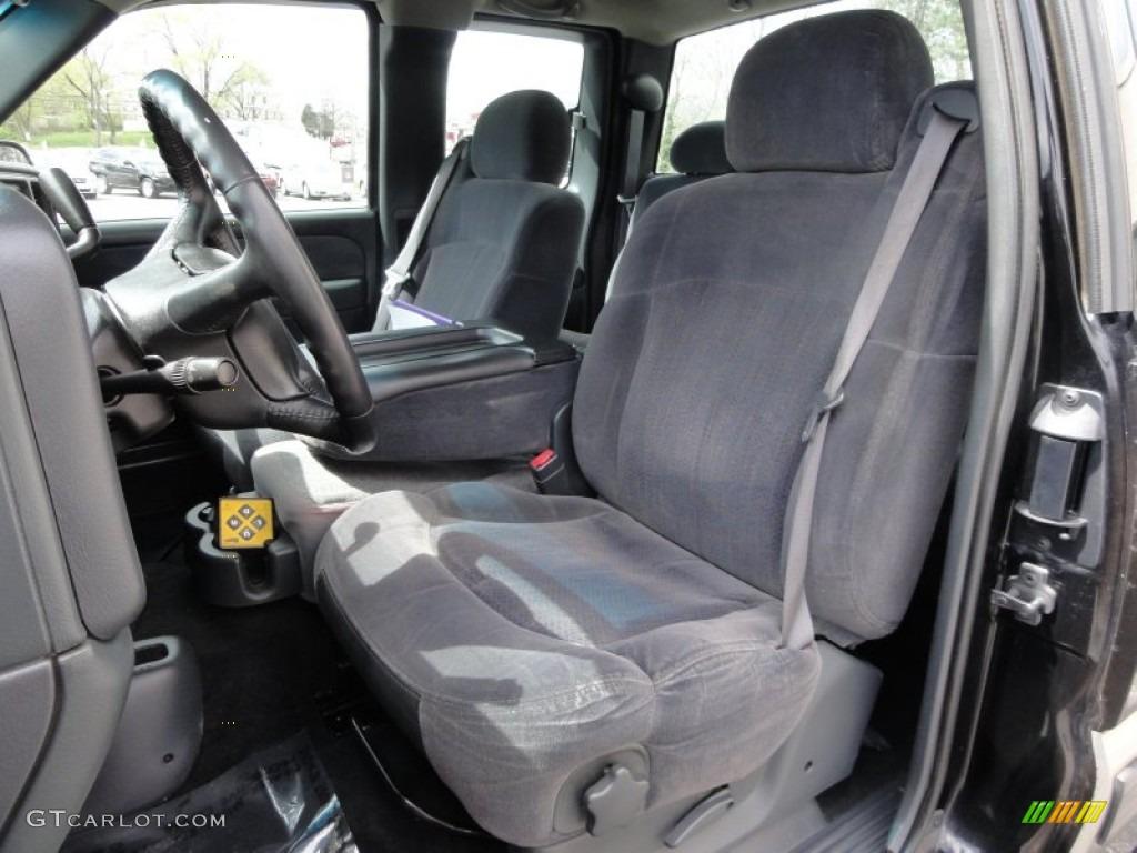 2002 Silverado 1500 LS Extended Cab 4x4 - Onyx Black / Graphite Gray photo #19