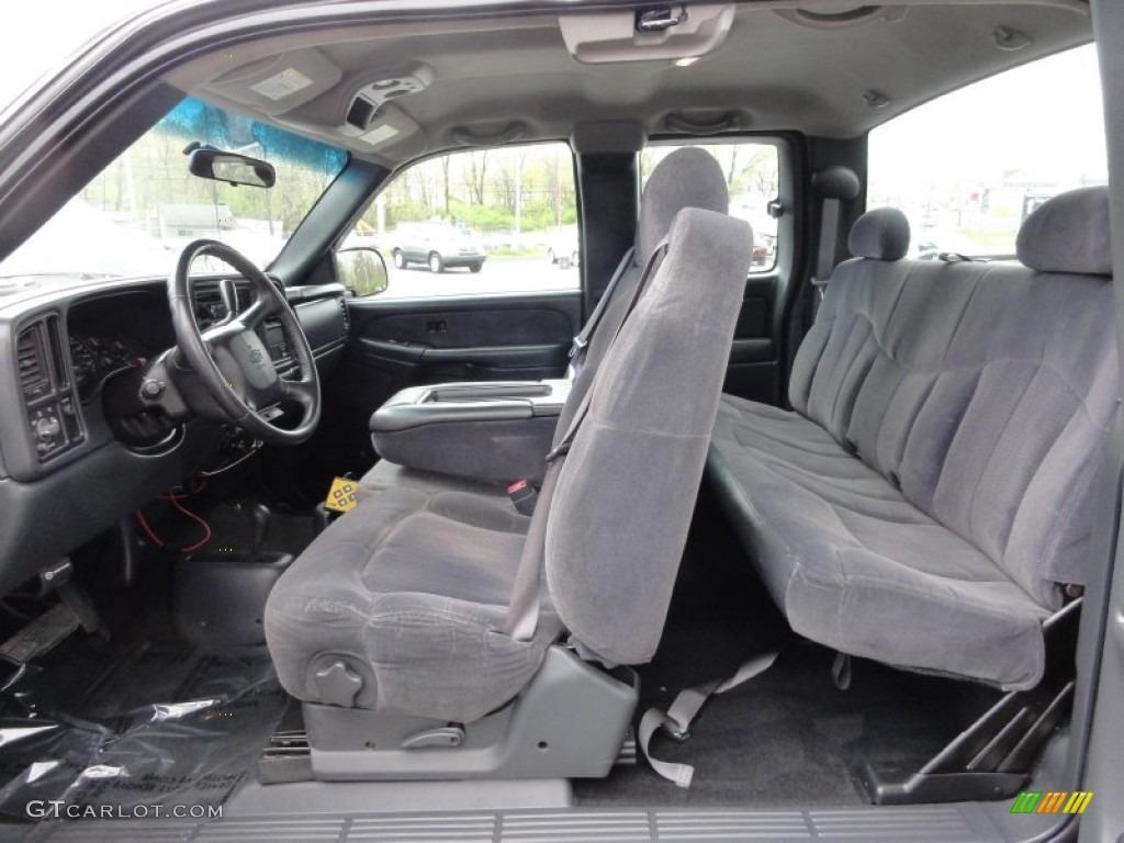 2002 Silverado 1500 LS Extended Cab 4x4 - Onyx Black / Graphite Gray photo #26