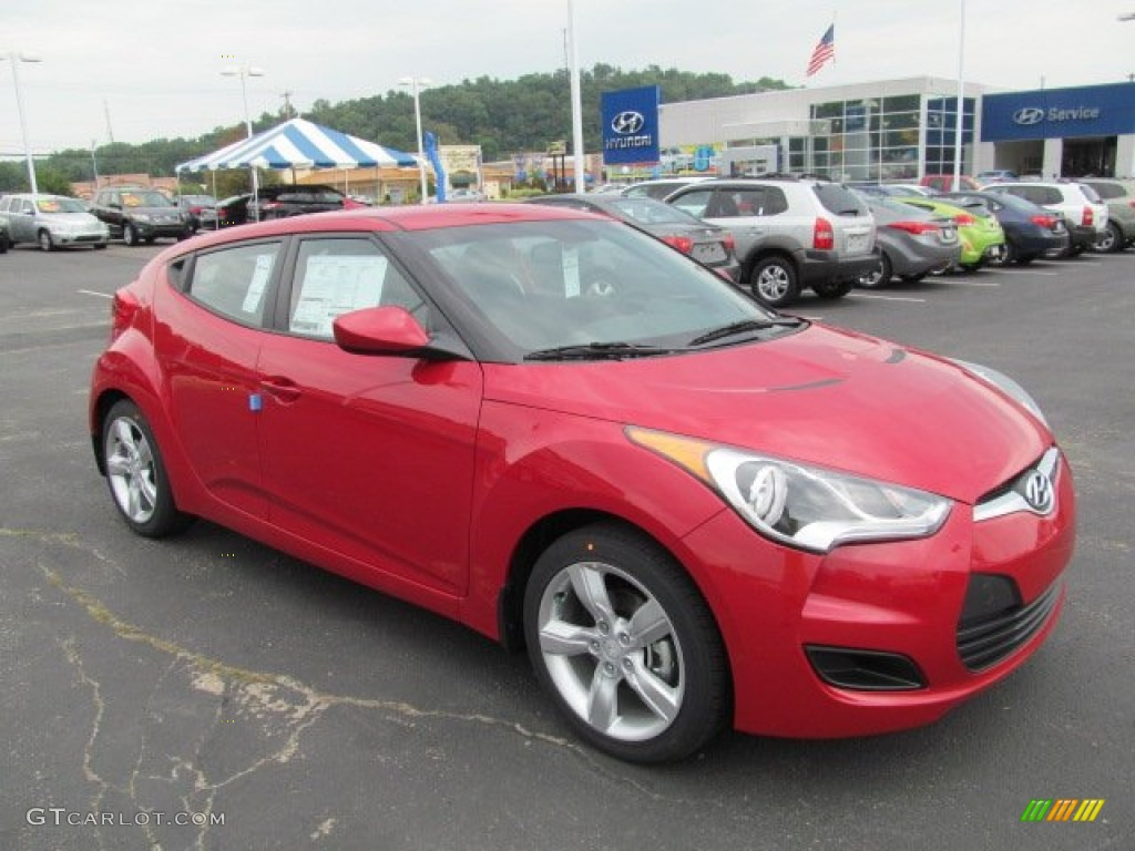 Boston Red 2013 Hyundai Veloster Standard Veloster Model Exterior